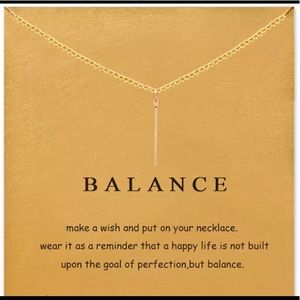 Jewelry - GOLD DIPPED VERTICAL BAR BALANCE MINIMALIST